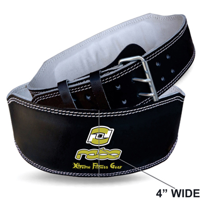 """Weight Lifting Leather 4"""" Wide Belt Back Support Workout"""