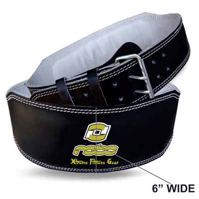 """Weight Lifting Leather 6"""" Wide Belt Back Support Workout"""