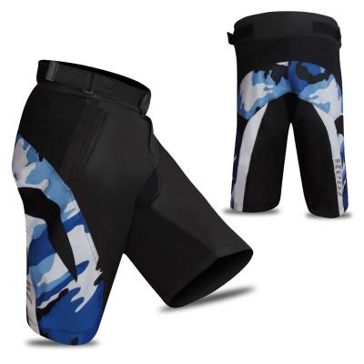 MTB Cycling Short Camo Design Black/Blue