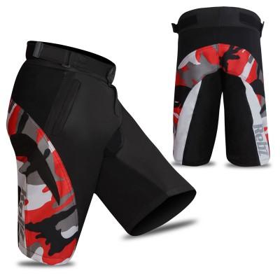 MTB Cycling Short Camo Design Black/Red