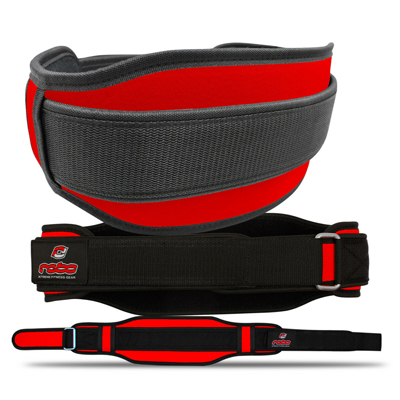 Weight Lifting Neoprene Belt Lumber Pain Back Support Red