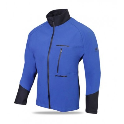 Cycling Winter Soft Shell Thermal Jacket Blue