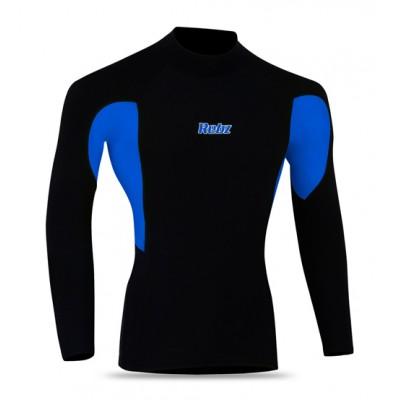 Cycling Thermal Winter Fleece Shirt BLACK/BLUE
