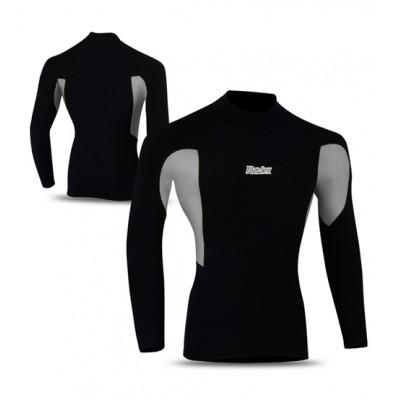 Cycling Thermal Winter Fleece Shirt BLACK/GREY