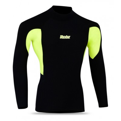 Cycling Thermal Winter Fleece Shirt BLACK/HI VIZ