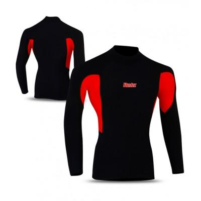 Cycling Thermal Winter Fleece Shirt BLACK/RED